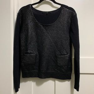 Black 7 for all mankind Sweater with Pockets XS